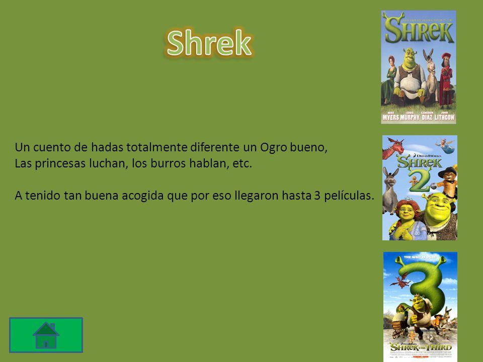 Shrek Un cuento de hadas totalmente diferente un Ogro bueno,