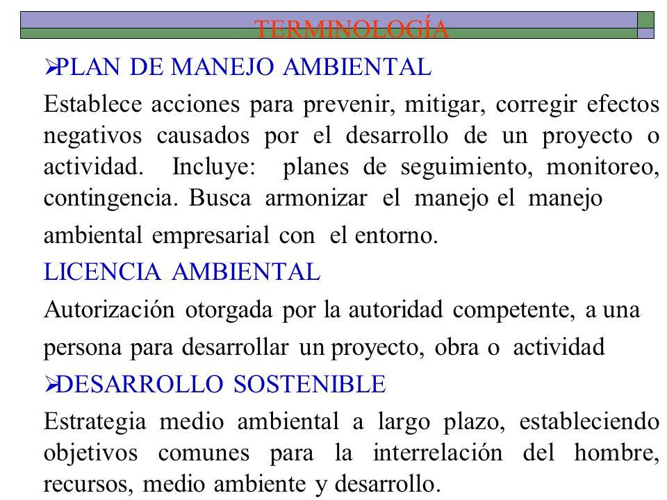 TERMINOLOGÍAPLAN DE MANEJO AMBIENTAL.