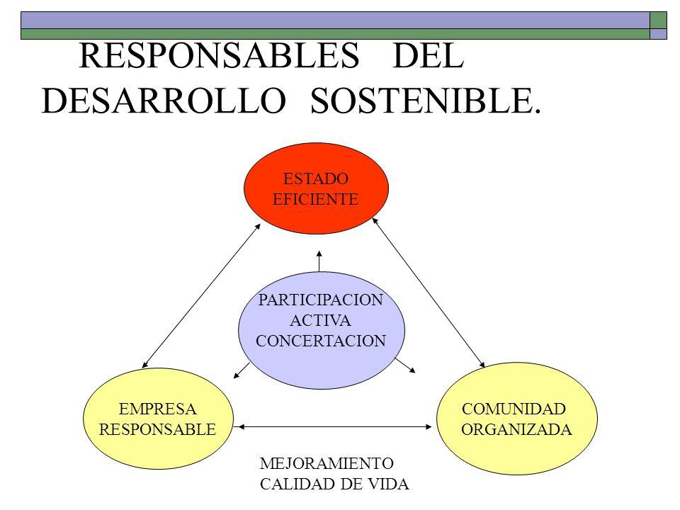RESPONSABLES DEL DESARROLLO SOSTENIBLE.