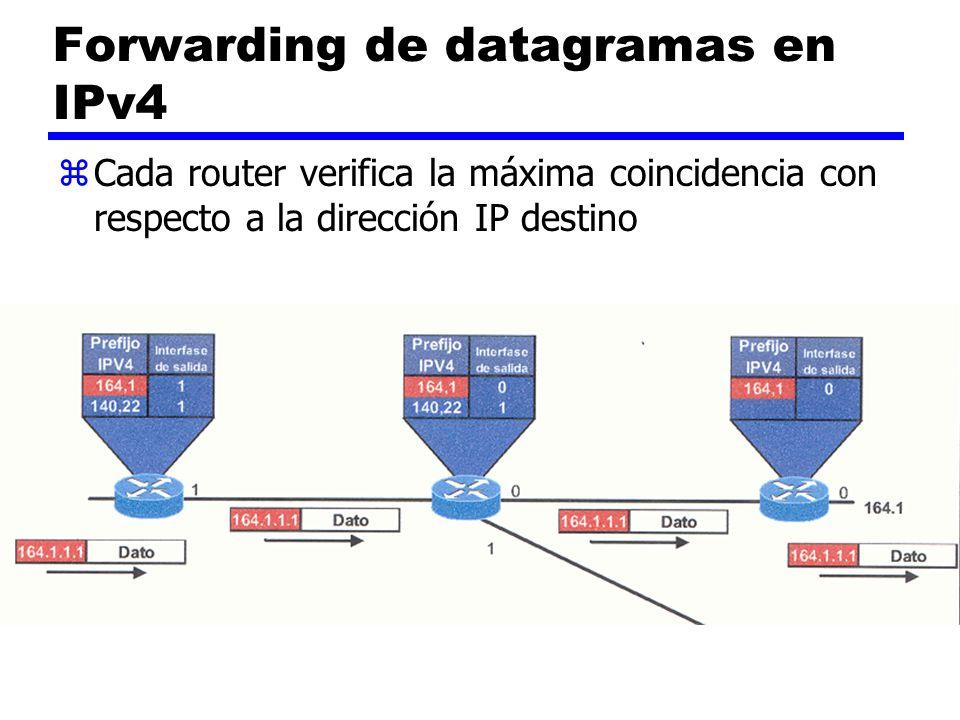Forwarding de datagramas en IPv4