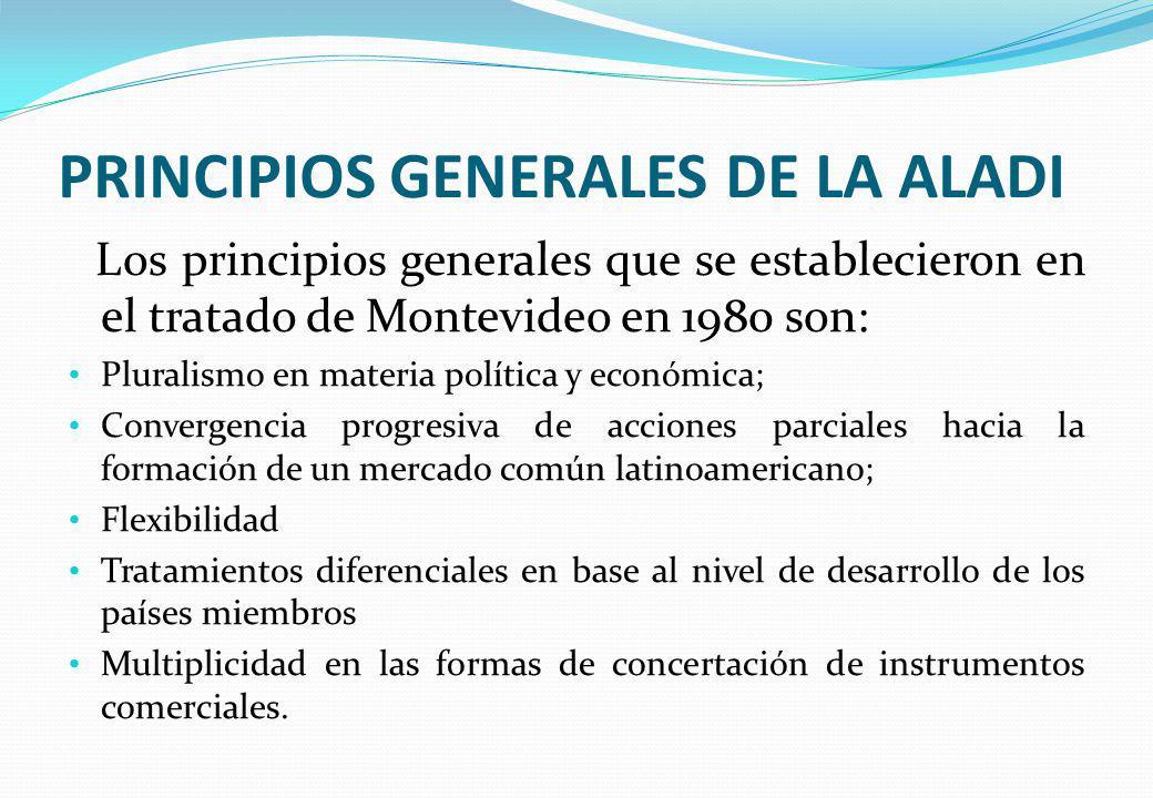 PRINCIPIOS GENERALES DE LA ALADI