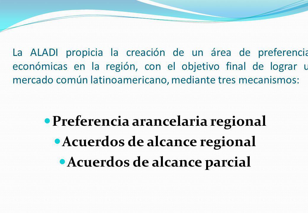 Preferencia arancelaria regional Acuerdos de alcance regional