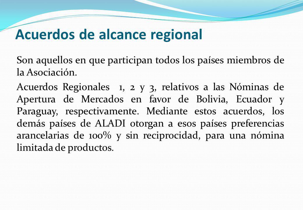 Acuerdos de alcance regional