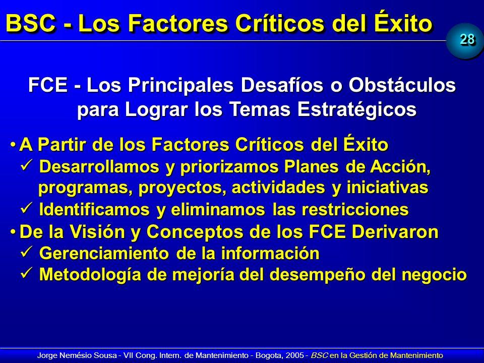 BSC - Los Factores Críticos del Éxito