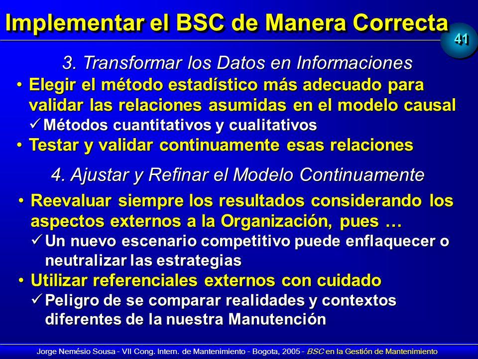 Implementar el BSC de Manera Correcta