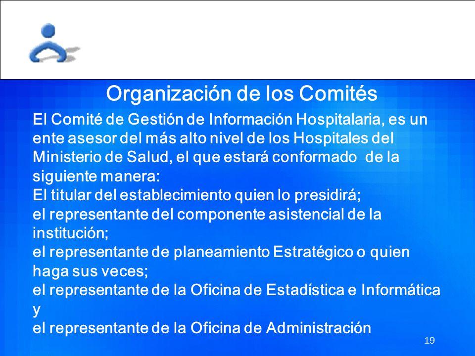 Organización de los Comités