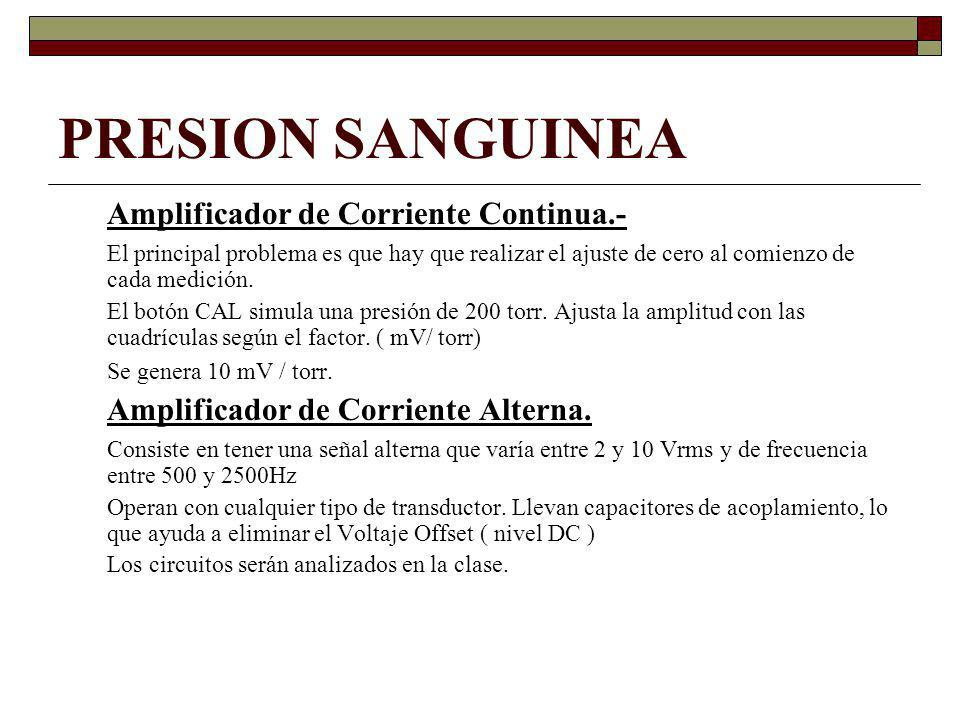 PRESION SANGUINEA Amplificador de Corriente Continua.-