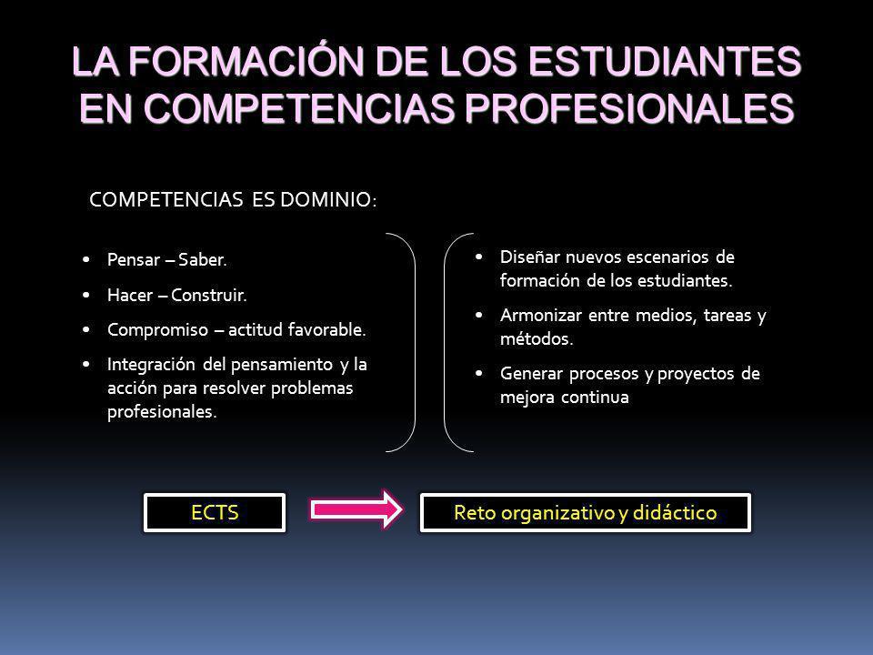 LA FORMACIÓN DE LOS ESTUDIANTES EN COMPETENCIAS PROFESIONALES