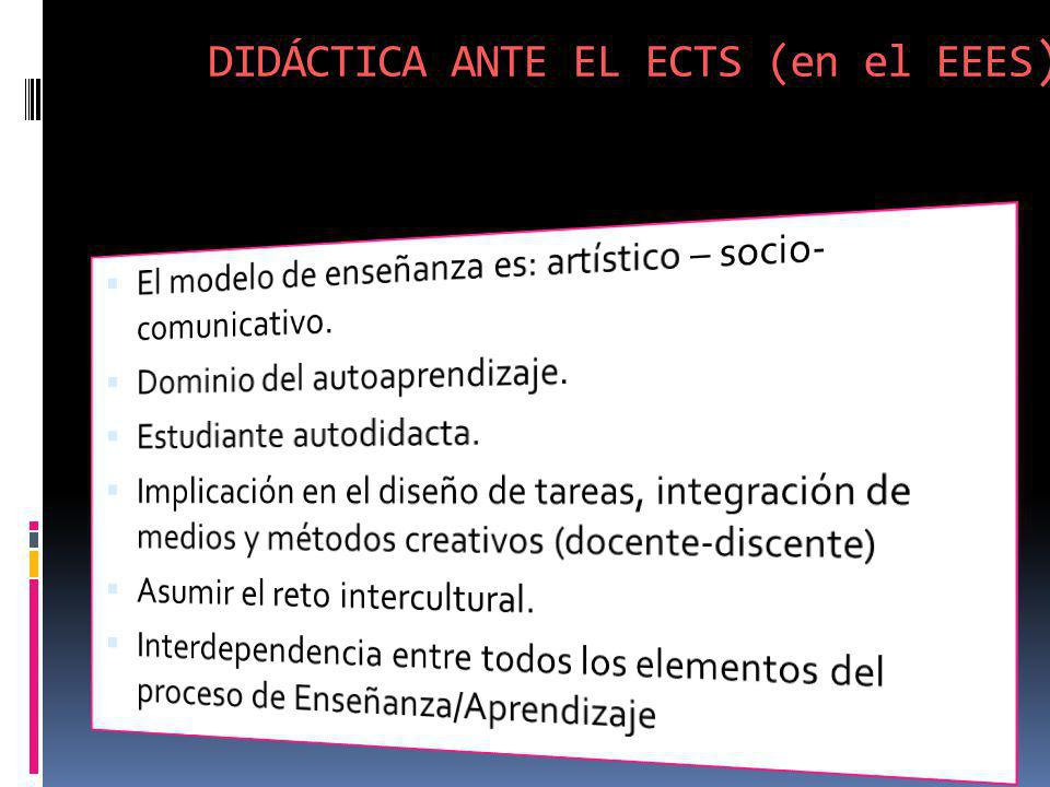 DIDÁCTICA ANTE EL ECTS (en el EEES)