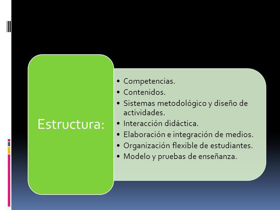 Estructura: Competencias. Contenidos.