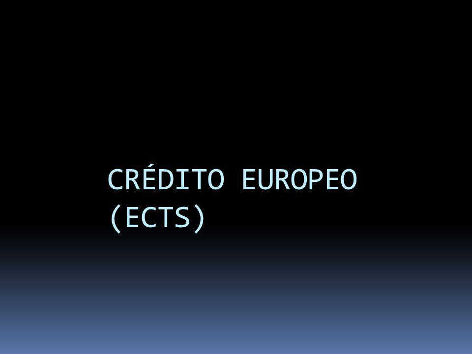 CRÉDITO EUROPEO (ECTS)