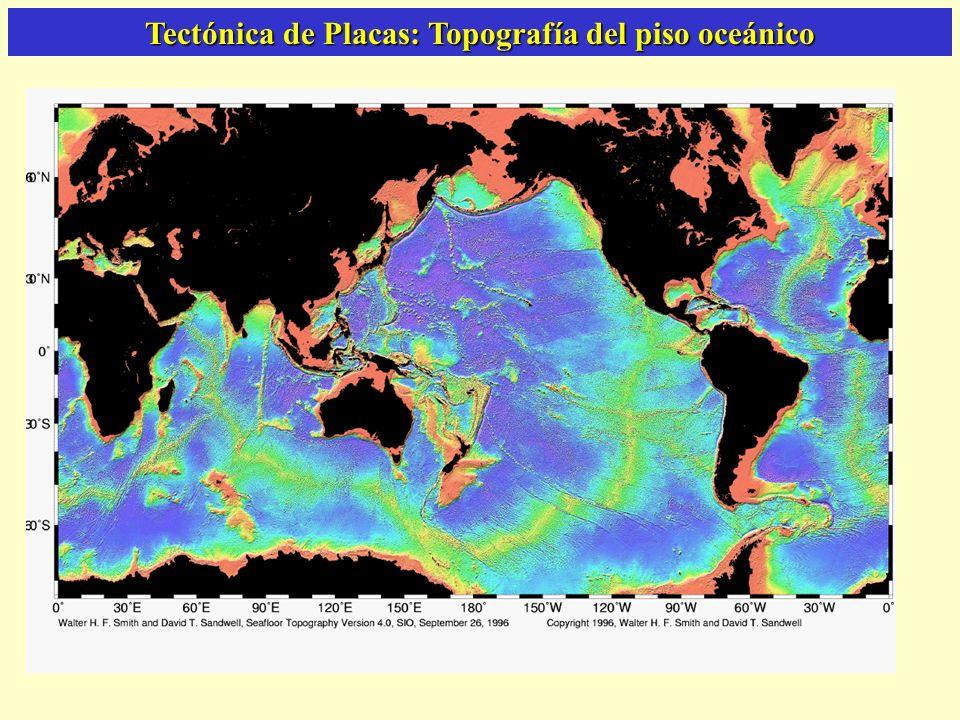 Tectónica de Placas: Topografía del piso oceánico