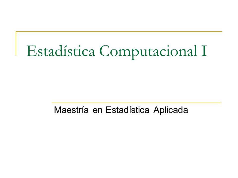 Estadística Computacional I