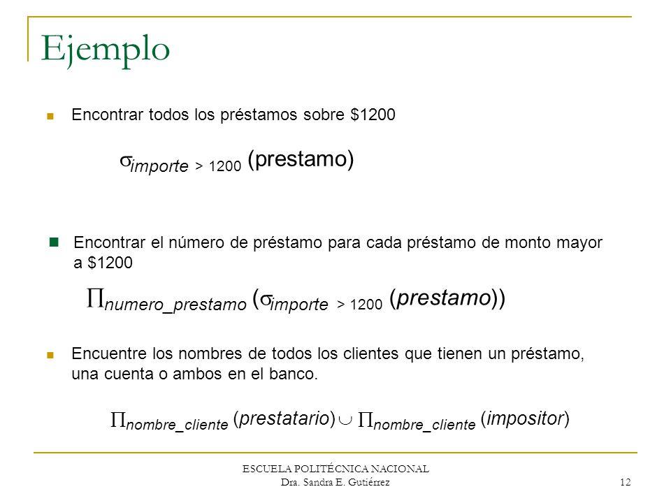 Ejemplo importe > 1200 (prestamo)