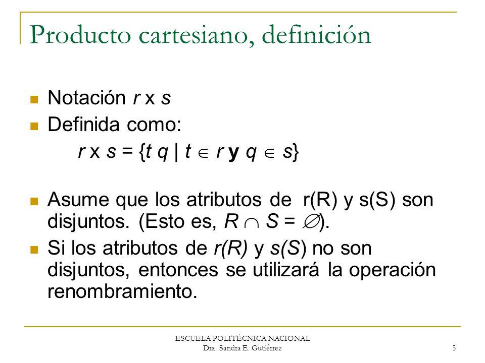 Producto cartesiano, definición