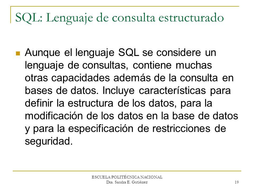 SQL: Lenguaje de consulta estructurado