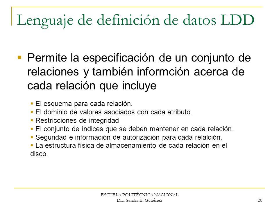 Lenguaje de definición de datos LDD
