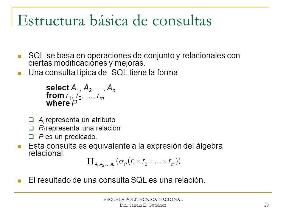 Estructura básica de consultas