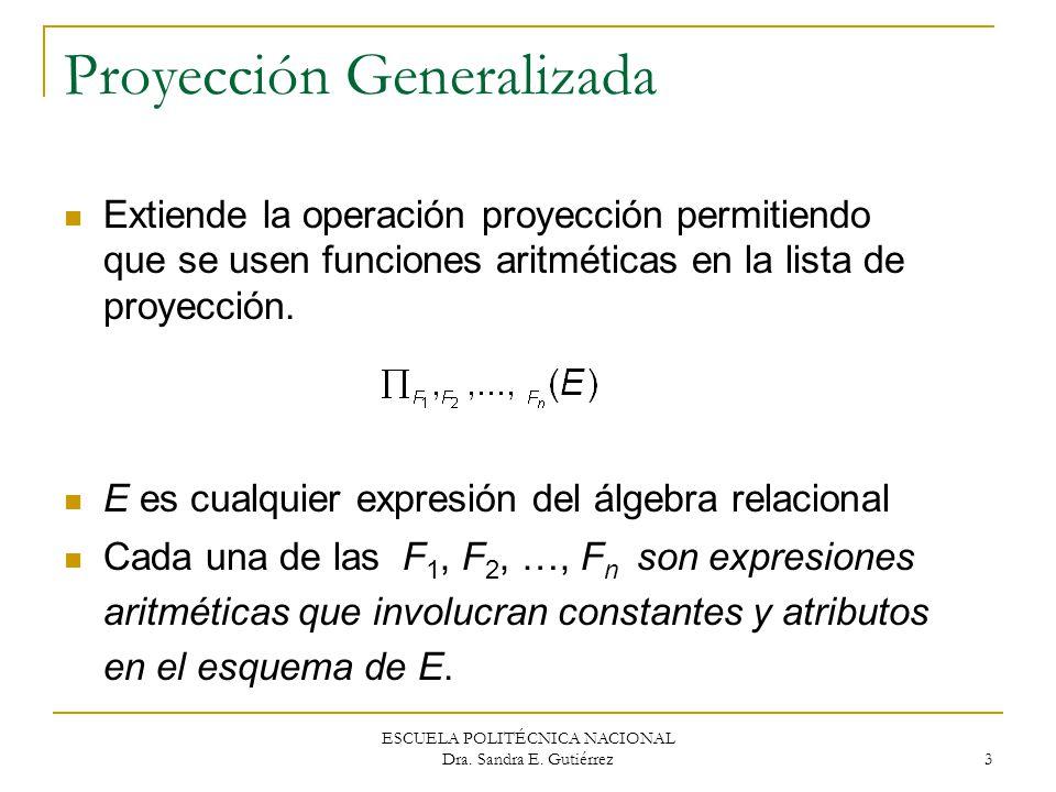 Proyección Generalizada