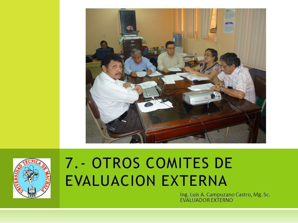 7.- OTROS COMITES DE EVALUACION EXTERNA