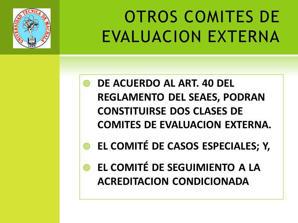 OTROS COMITES DE EVALUACION EXTERNA