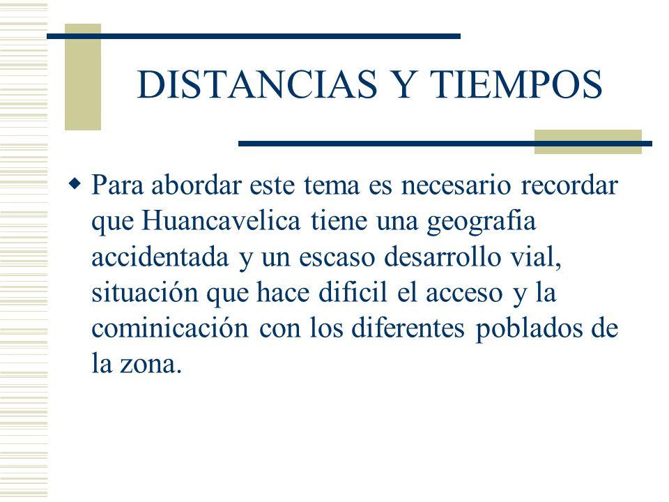 DISTANCIAS Y TIEMPOS