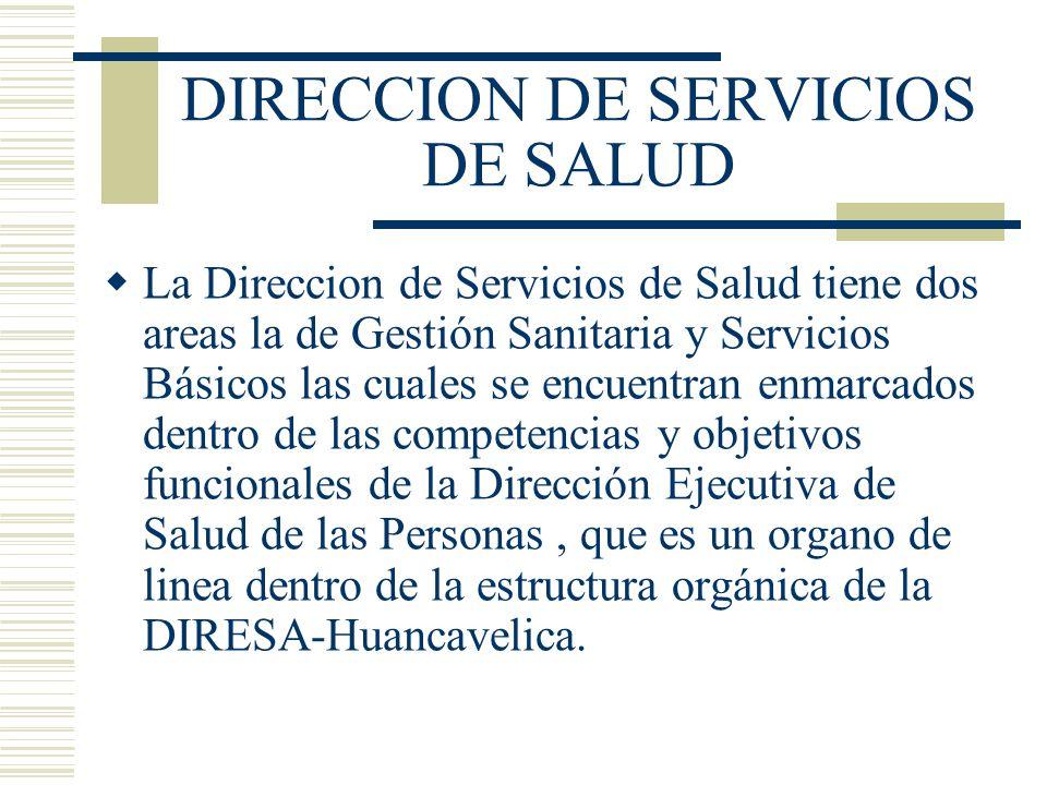 DIRECCION DE SERVICIOS DE SALUD