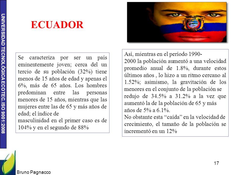 ECUADOR Así, mientras en el período 1990-