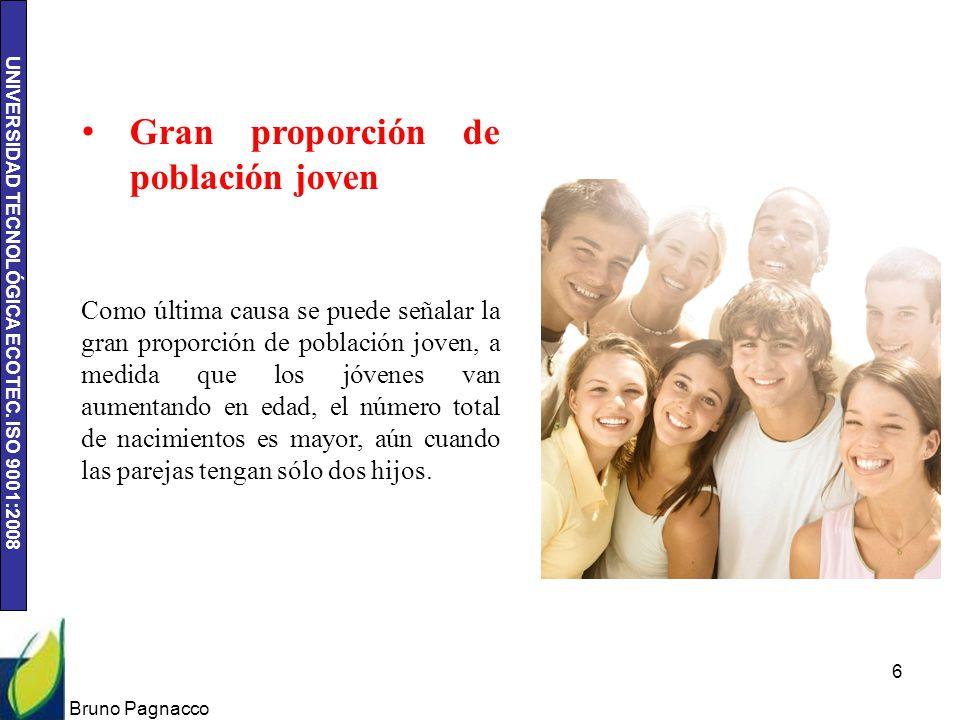 Gran proporción de población joven