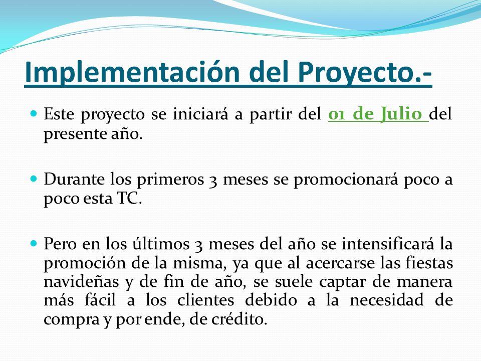 Implementación del Proyecto.-