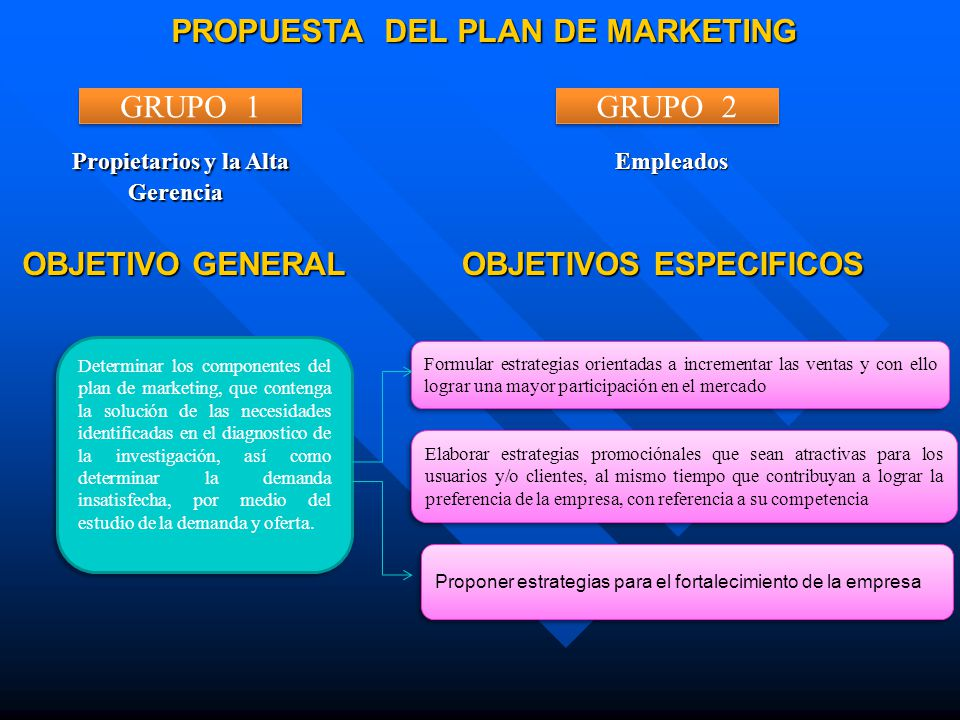 PROPUESTA DEL PLAN DE MARKETING