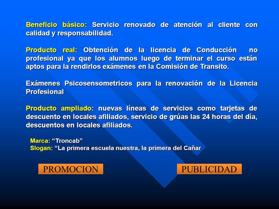 Beneficio básico: Servicio renovado de atención al cliente con calidad y responsabilidad.