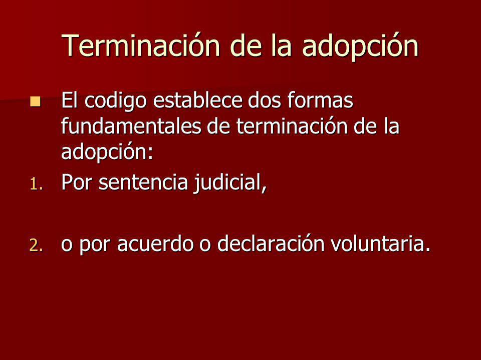 Terminación de la adopción