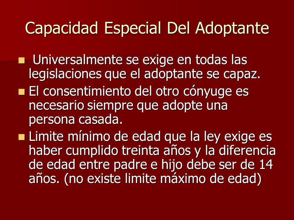 Capacidad Especial Del Adoptante