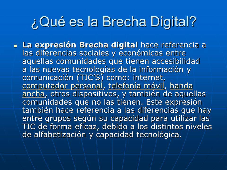 ¿Qué es la Brecha Digital