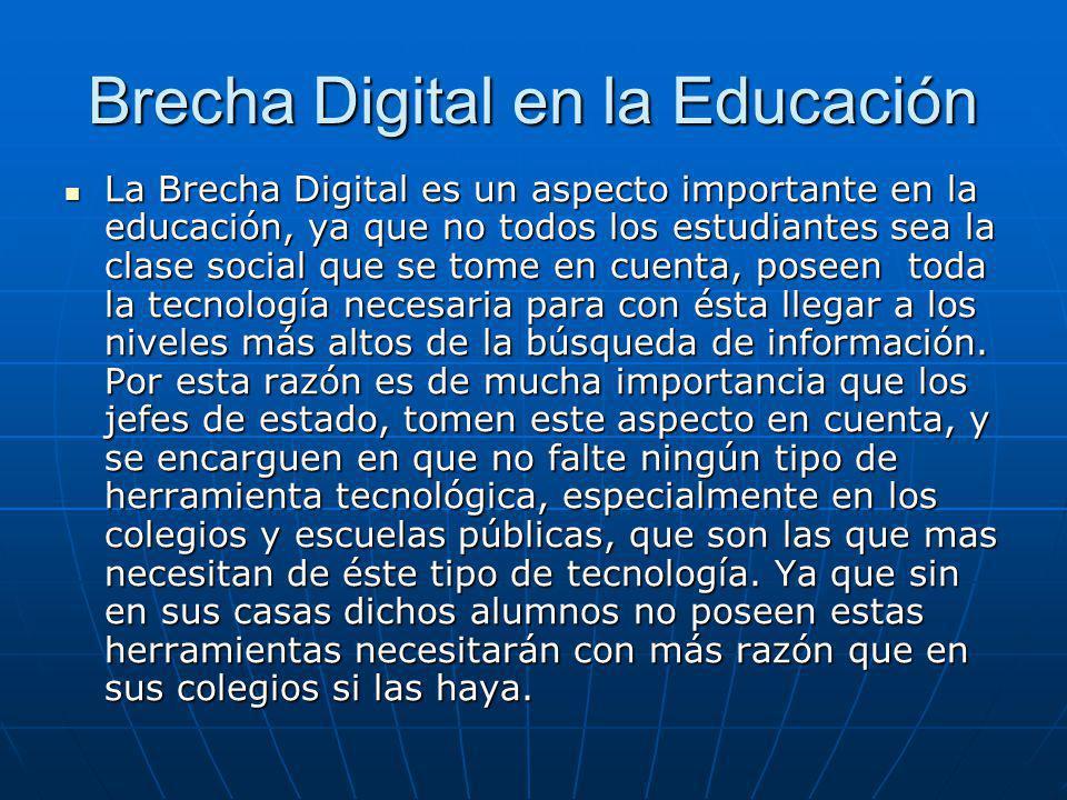 Brecha Digital en la Educación