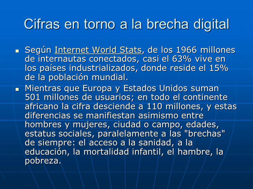 Cifras en torno a la brecha digital