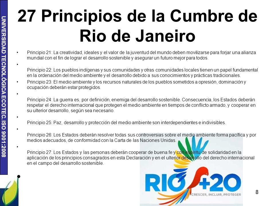 27 Principios de la Cumbre de Rio de Janeiro