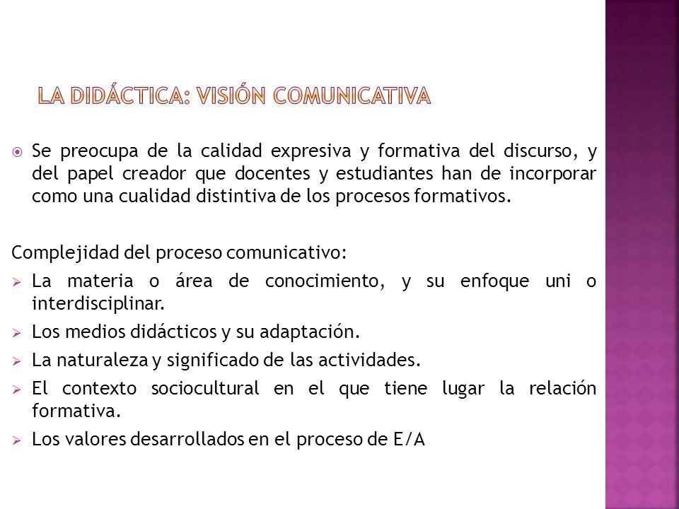La Didáctica: visión comunicativa