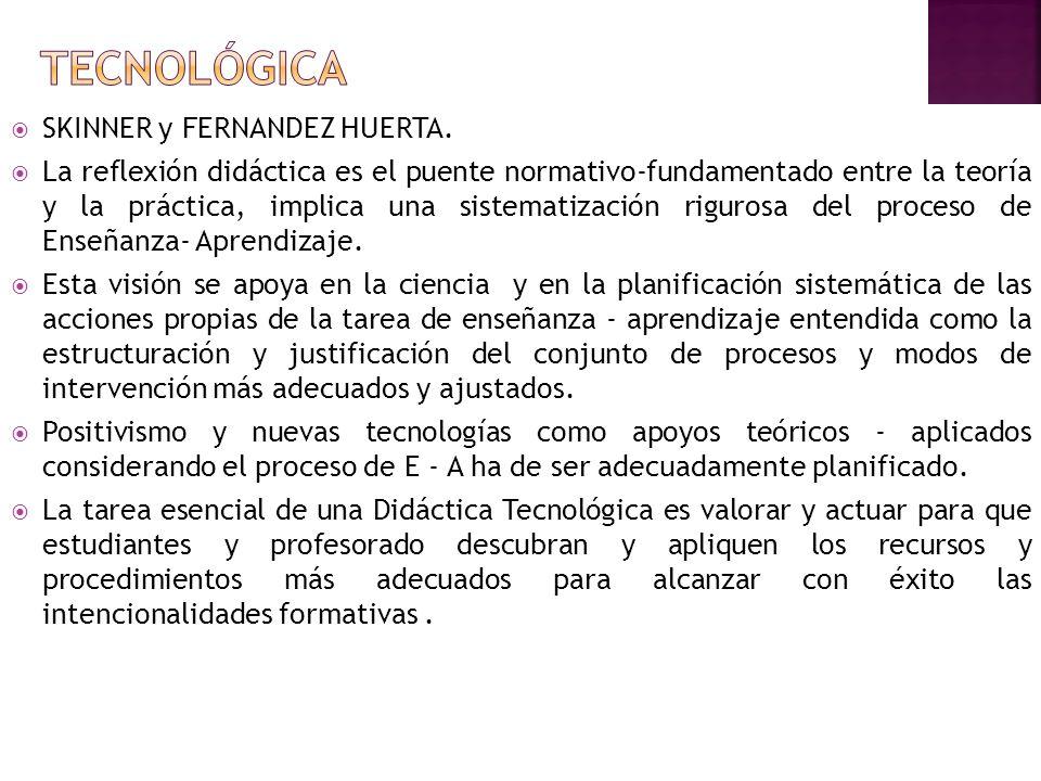 TECNOLÓGICA SKINNER y FERNANDEZ HUERTA.
