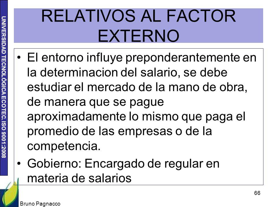 RELATIVOS AL FACTOR EXTERNO
