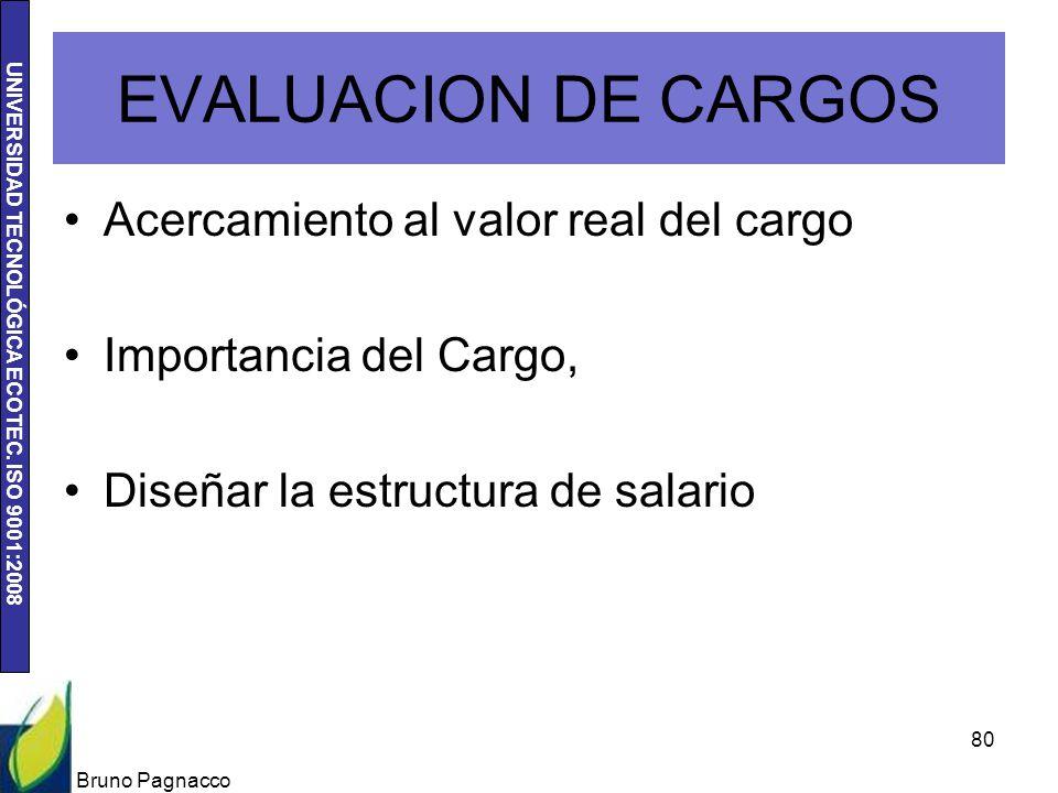 EVALUACION DE CARGOS Acercamiento al valor real del cargo