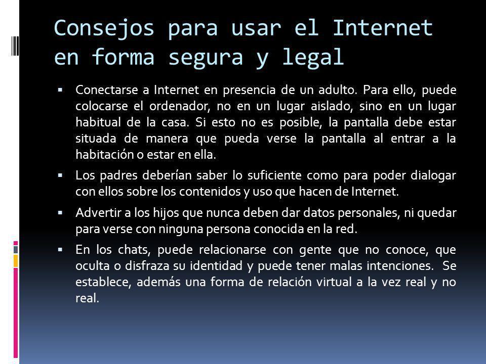 Consejos para usar el Internet en forma segura y legal
