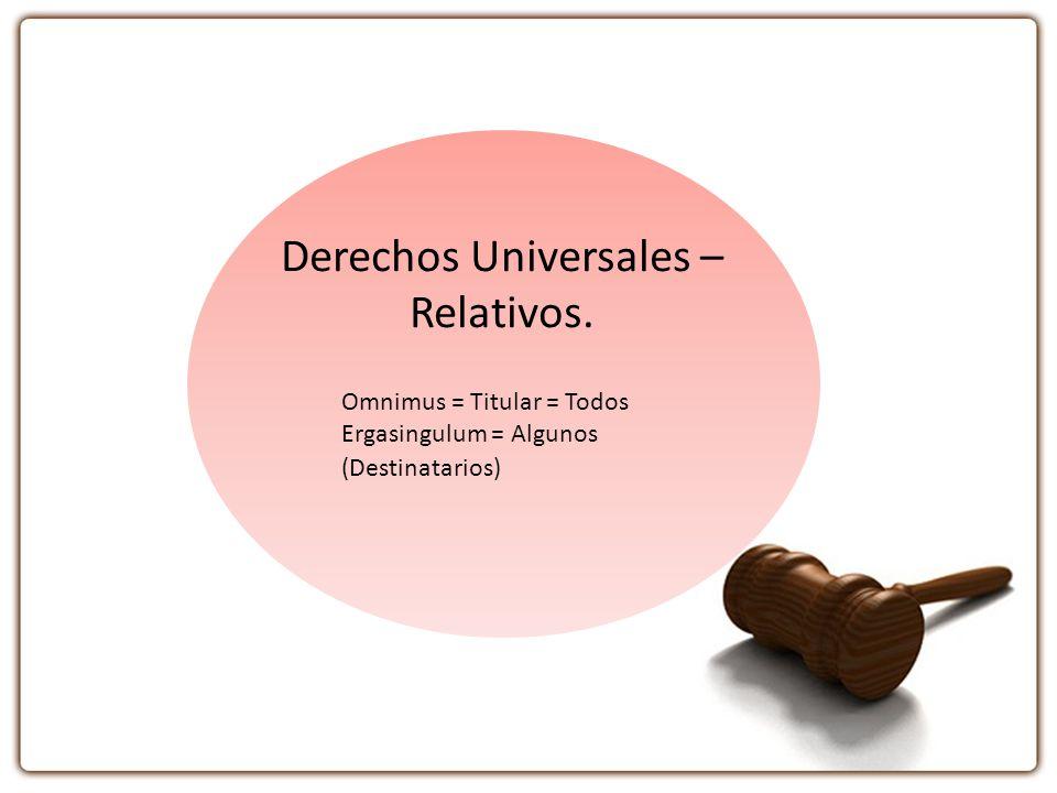 Derechos Universales – Relativos.