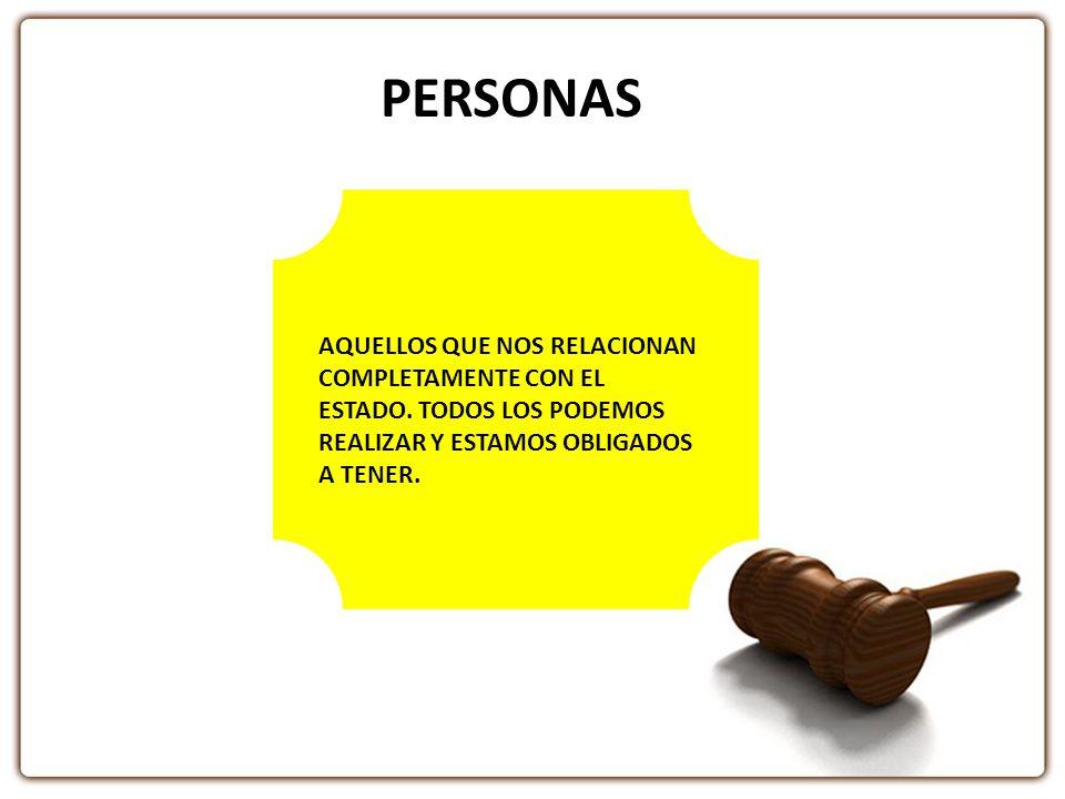 PERSONAS AQUELLOS QUE NOS RELACIONAN COMPLETAMENTE CON EL ESTADO.