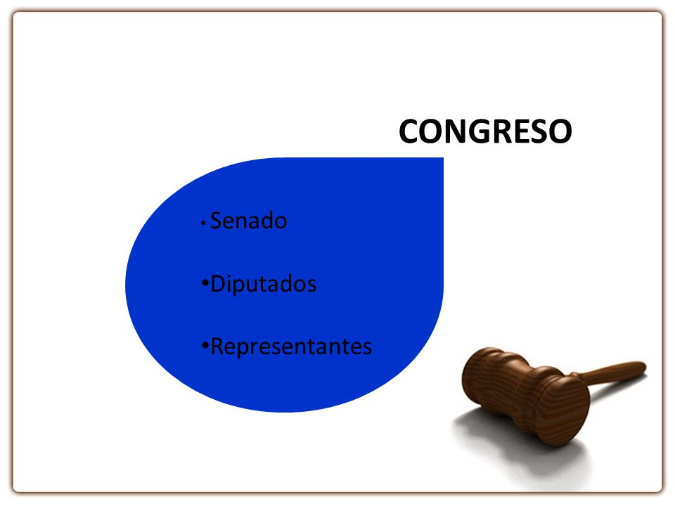 CONGRESO Senado Diputados Representantes