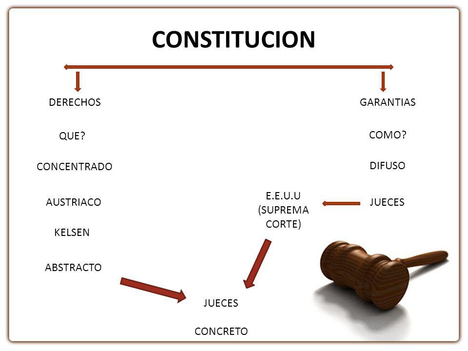 CONSTITUCION DERECHOS GARANTIAS QUE COMO CONCENTRADO DIFUSO