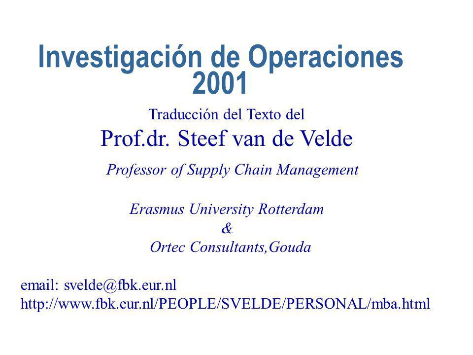 Investigación de Operaciones 2001