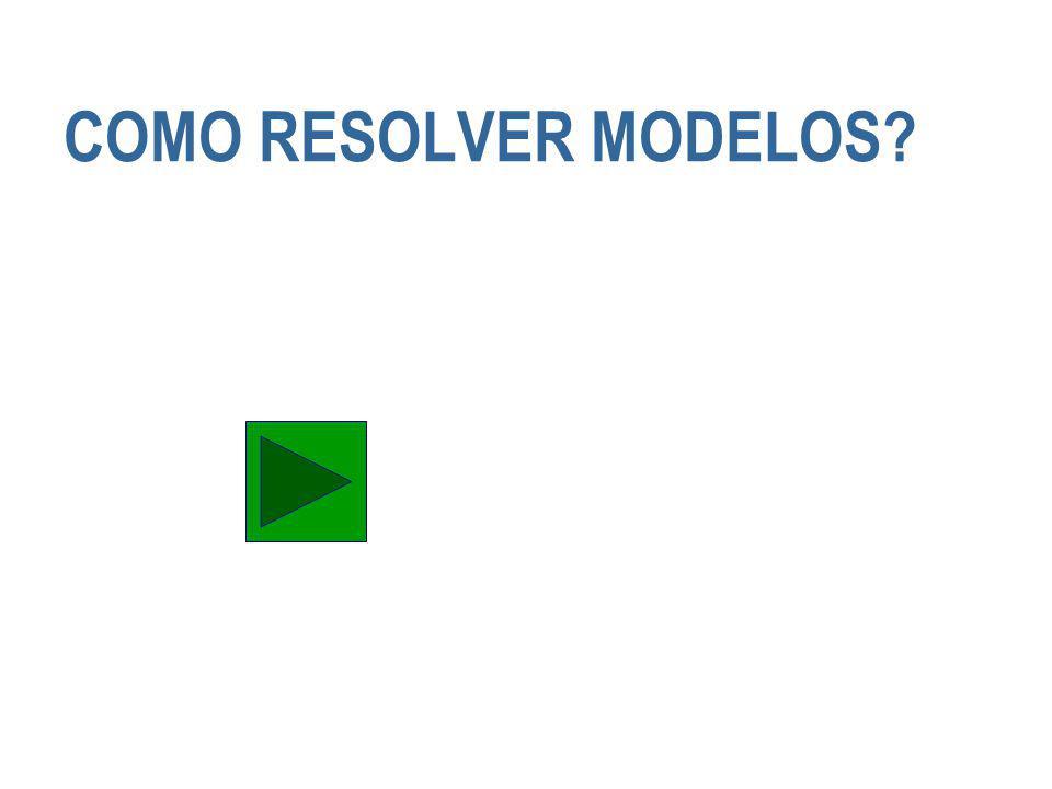 COMO RESOLVER MODELOS