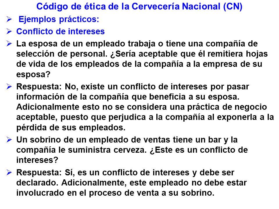 Código de ética de la Cervecería Nacional (CN)